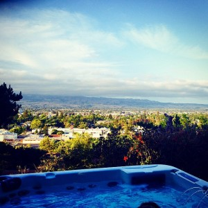 #Sunday #Funday post #hike! #view #sun #fog #hottub #relax