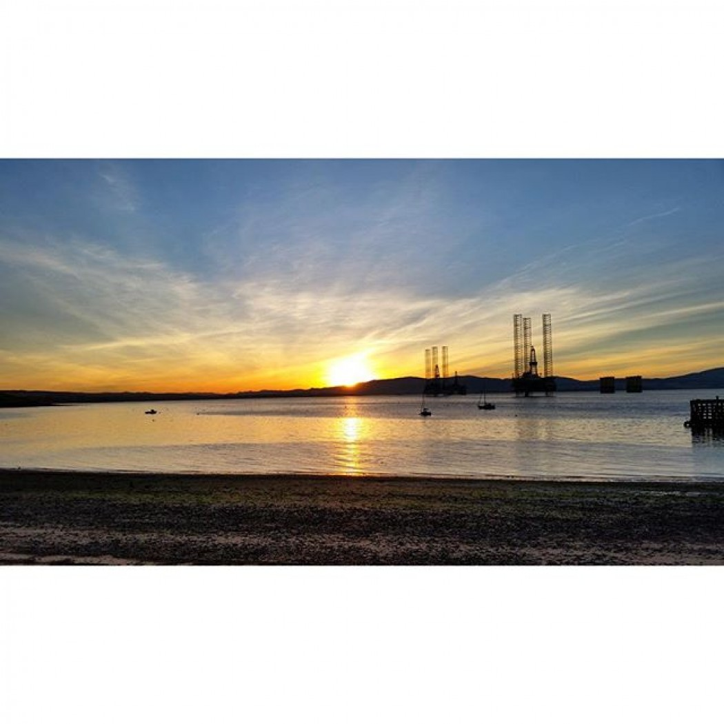 Cromarty Firth Scotland at Sunset